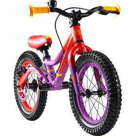 """s'cool pedeX Dirt - Draisienne Enfant - 14"""" rouge/violet"""